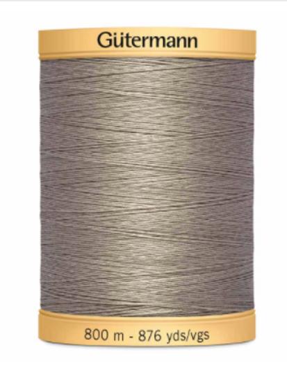 GÜTERMANN Cotton 50wt Thread 800m - Gray