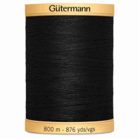 GÜTERMANN Cotton 50wt Thread 800m - Black