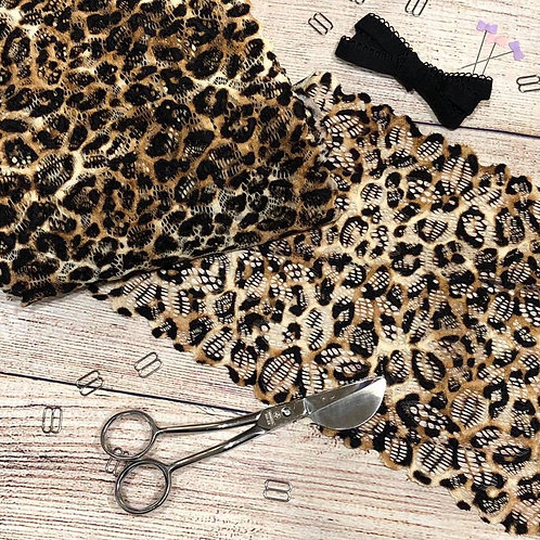 """7""""/17.75cm Leopard Stretch Galloon Lace"""