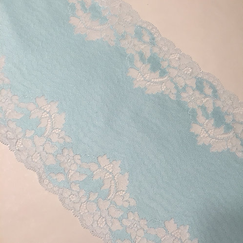 "8.75""/22cm Light Blue Satin Stretch Galloon Lace"