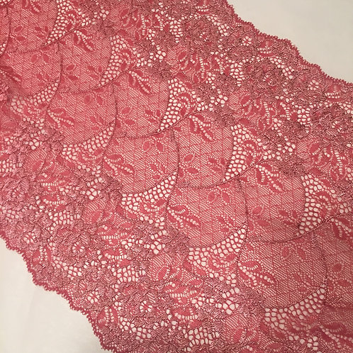 """8.5""""/21.5cm Vintage Rose Floral & Knot Stretch Galloon Lace"""