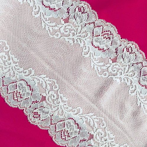 """7""""/17.75cm Ice Queen Floral Stretch Galloon Lace"""