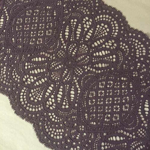 "8.75""/22cm Helianthus Deep Purple Stretch Galloon Lace"