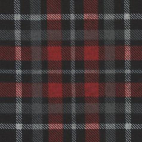 1/2 Metre Red/Black Plaid Sweater Knit