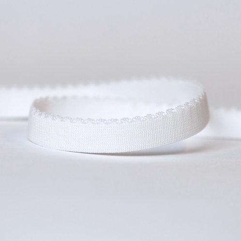 "White (1/2""/12mm) Floral Picot Bra Elastic"