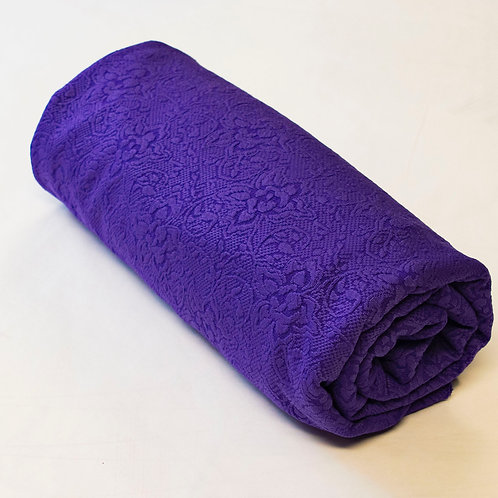 1/2 Metre Purple Embossed Poly/Span Knit