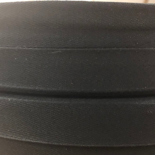 "25mm (1"") Twill Tape - Black"