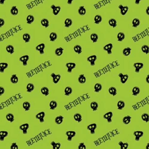 Camelot - Beetlejuice - Tossed Skulls (Neon Green)