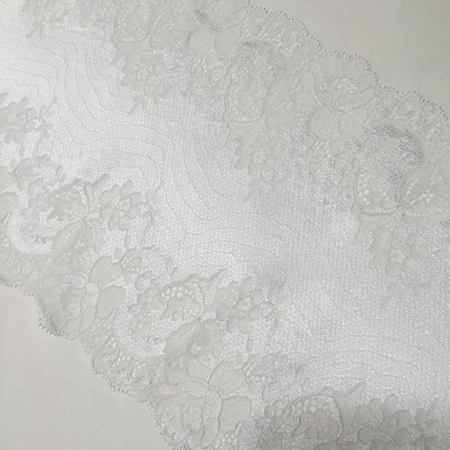 """7.75""""/19.6cm White Satin Stretch Galloon Lace"""