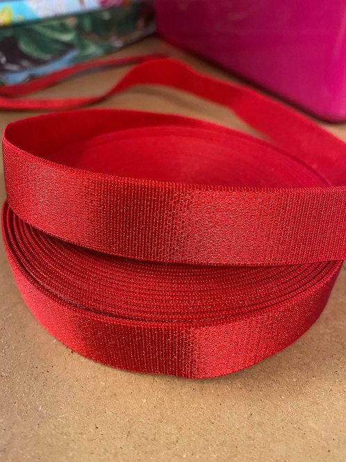 Red 18mm Bra Strap Elastic