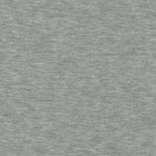 1/2 Metre Brushed French Terry Heather Grey