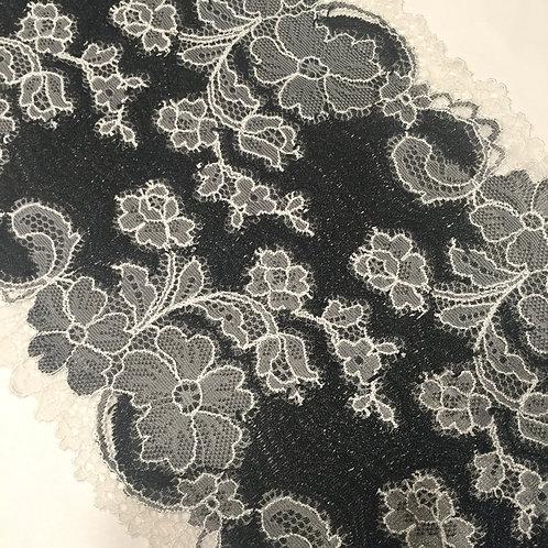 "6.25""/15.8cm Black Lolita Stretch Galloon Lace"