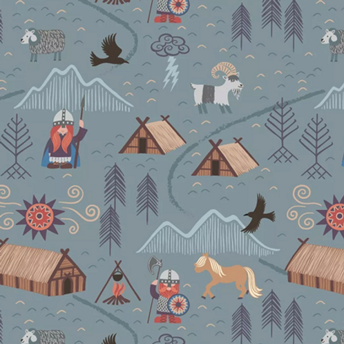 Lewis & Irene - Viking Village (Blue/Grey)
