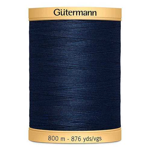 GÜTERMANN Cotton 50wt Thread 800m - Navy