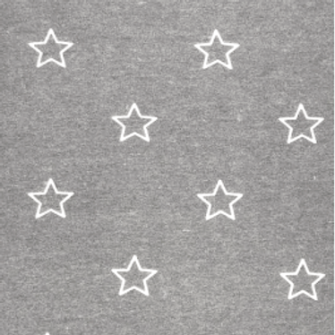 Grey Star Brushed Sweater Knit