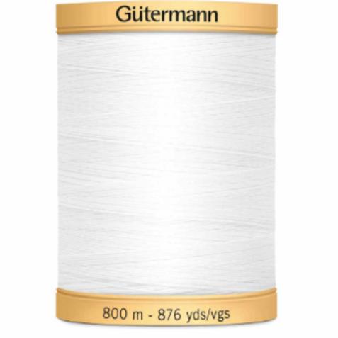 GÜTERMANN Cotton 50wt Thread 800m - White