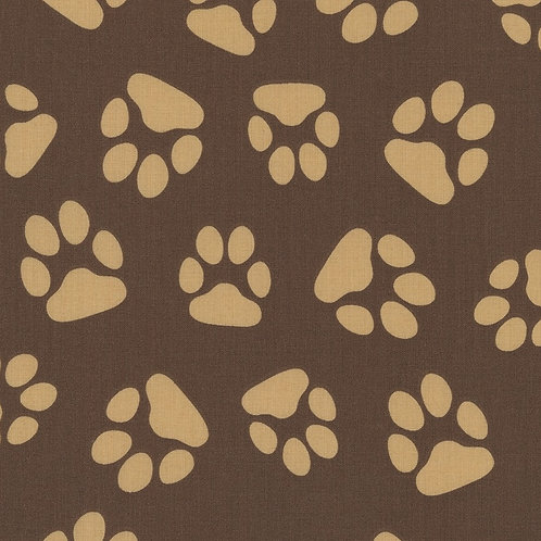 Tan and Brown Paw Prints