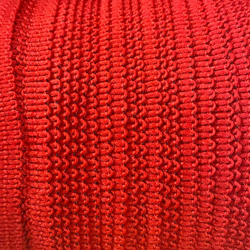 "1/4"" 6mm Knitted Elastic (Red) Canadian Made"