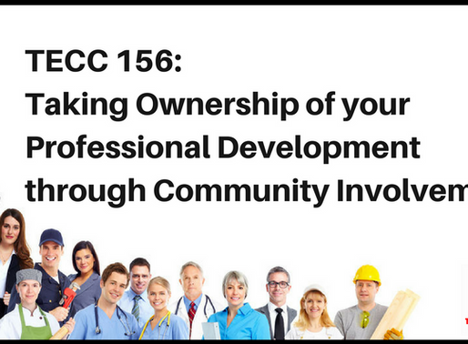 Taking Ownership of your Professional Development through Community Involvement