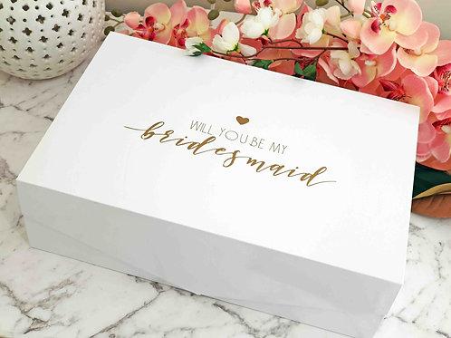Bridesmaid/ M.O.H Gift Box (Large)