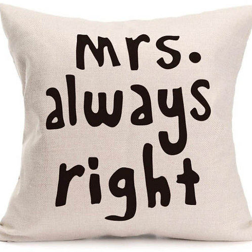 Mrs Right Cushion Cover
