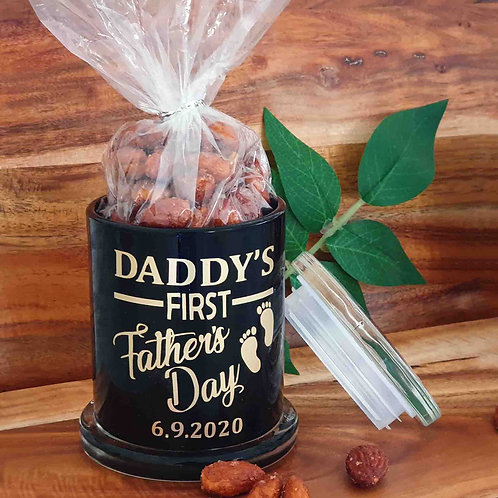 Daddy's First Father's Day Jar with Cinnamon Maple Nuts