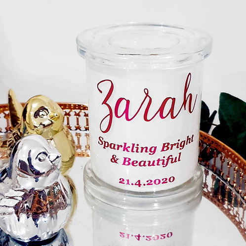 Baby Name Keepsake Candle