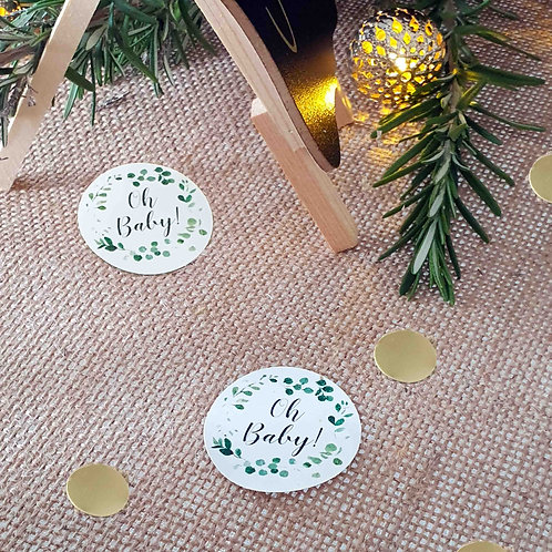 """""""Oh Baby"""" Baby Shower Table Scatters"""
