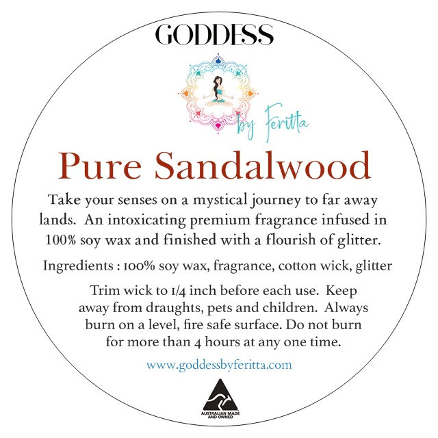 Pure Sandalwood Signature Hand Poured 100% Soy Candle in