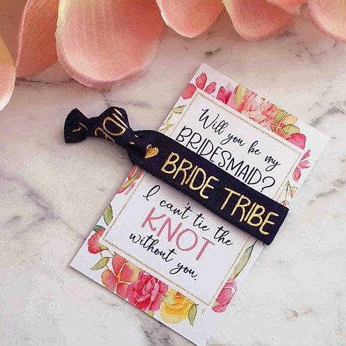 Bridesmaid Wristband/Hair Ties