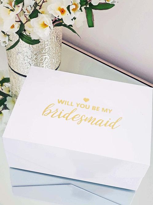 Bridesmaid/ M.O.H Gift Box (Medium)