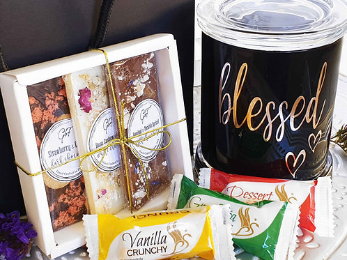 Deluxe Candle & Treat Trio Gift Bag