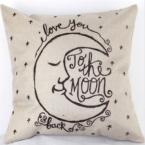 Love You To The Moon Cushion Cover