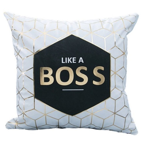 Like A Boss Statement Cushion Cover
