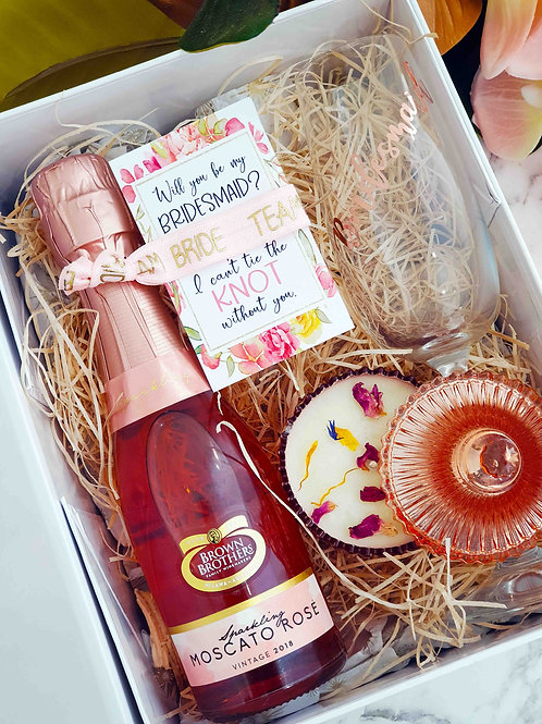 Pretty in Pink Bridesmaids Gift Box