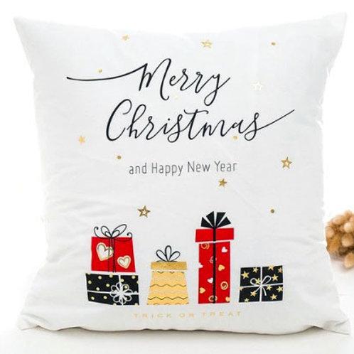 Christmas Presents Metallic Cushion Cover