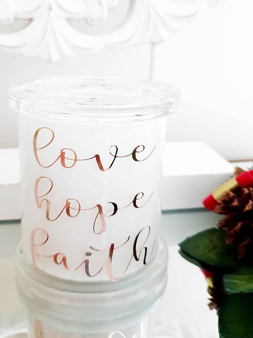 Love Hope Faith Soy Candle