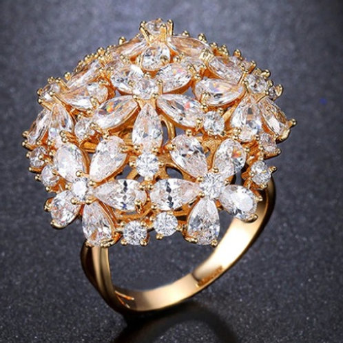 Enchantment Cocktail Ring - Yellow Gold