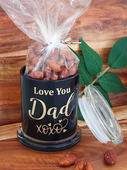 Love You Dad Father's Day Jar with Cinnamon Maple Nuts