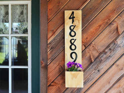 Natural House Number Planter