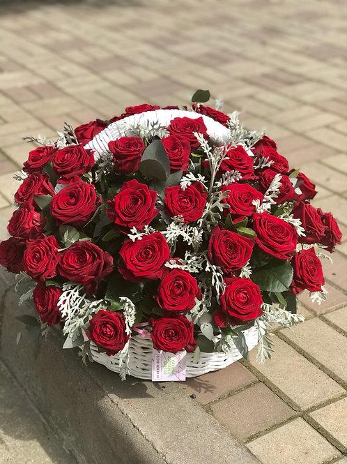 Корзина из 51 розы Акция!!!