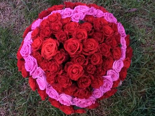 Сердце из роз заказать