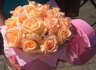 Модная коробка с цветами.