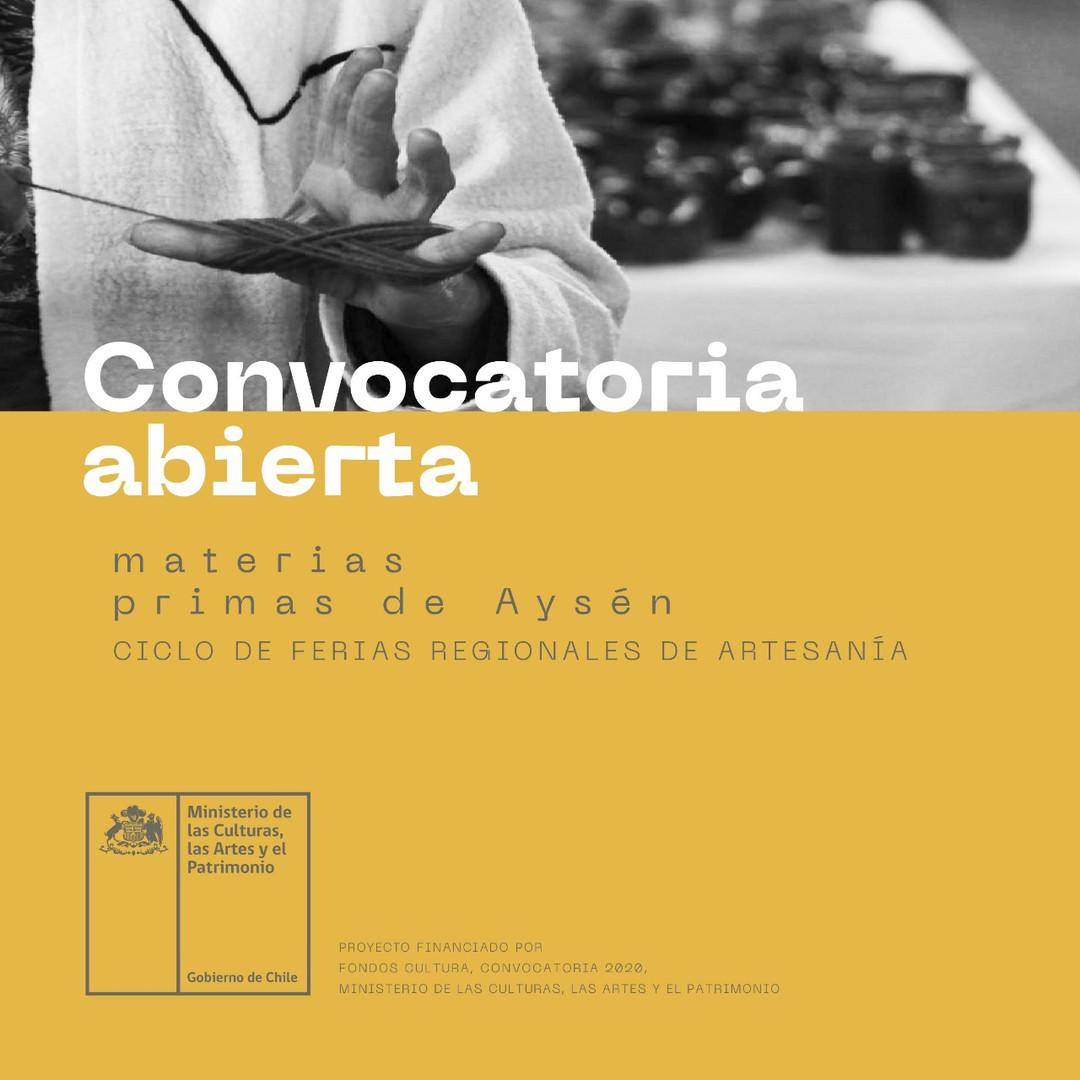 Convocatoria Abiertas Materias Primas de Aysén