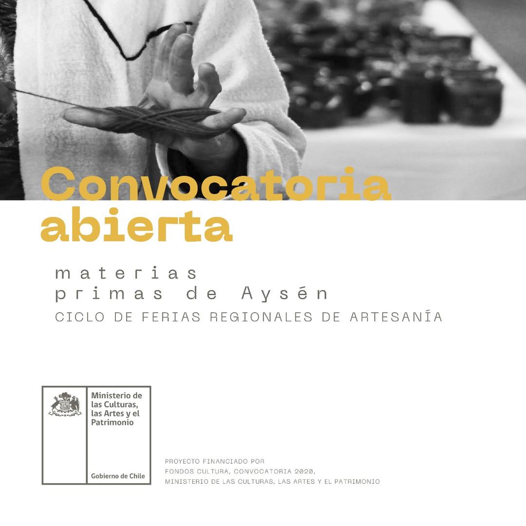 Convocatoria Abierta Materias Primas de Aysén