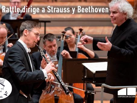 """[ 🎶 CONCIERTO EN LÍNEA 🎶 ] """"Simon Rattle dirige a Strauss y Beethoven"""""""