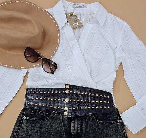 vegan leather corset style belt with gol