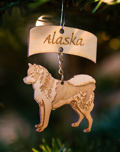 Christmas Ornament -Husky Sled Dog