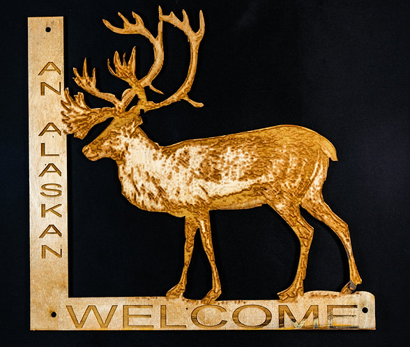 Reindeer Welcome Sign