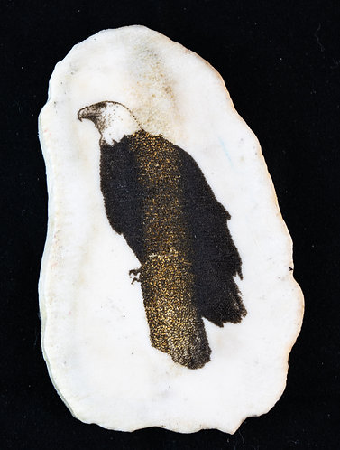 Perched Bald Eagle Antler Magnet
